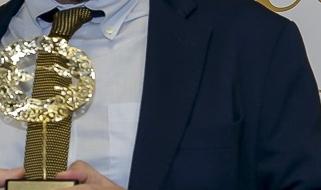 Mauro Lusetti, Presidente Legacoop e Leonardo Palmisano, Colomba d'oro per la pace 2019